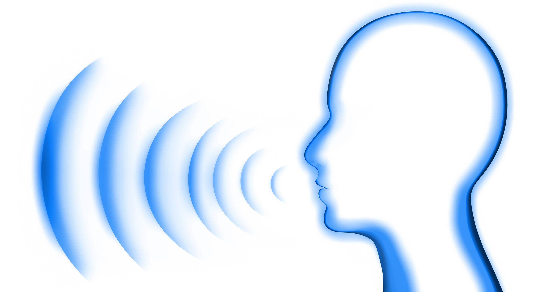 Kopf mit Schall vor weiss